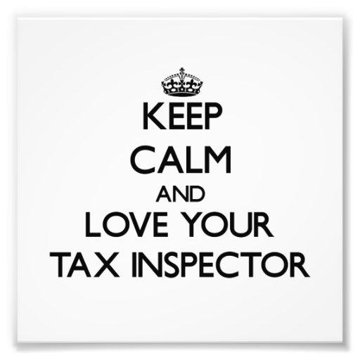 Guarde la calma y ame a su inspector del impuesto fotografías