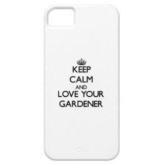 Guarde la calma y ame a su jardinero iPhone 5 funda