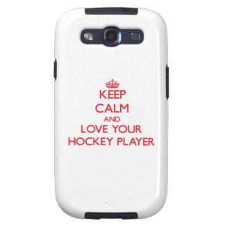 Guarde la calma y ame a su jugador de hockey