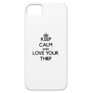 Guarde la calma y ame a su ladrón iPhone 5 carcasas