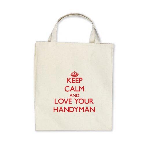 Guarde la calma y ame a su manitas bolsas