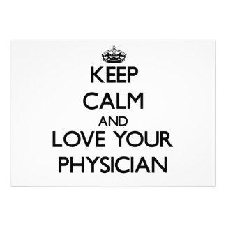 Guarde la calma y ame a su médico comunicados personales