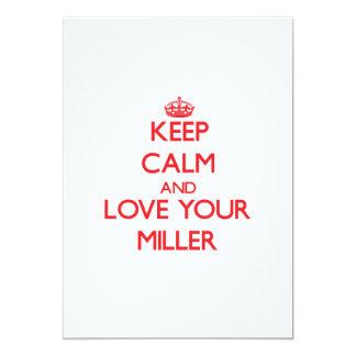Guarde la calma y ame a su Miller Invitaciones Personalizada
