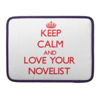 Guarde la calma y ame a su novelista funda para macbook pro