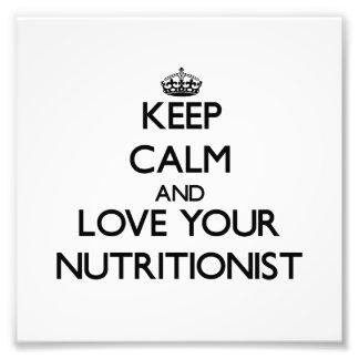 Guarde la calma y ame a su nutricionista fotografía