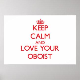 Guarde la calma y ame a su oboe