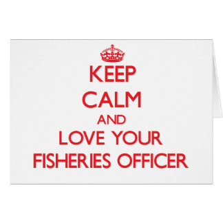 Guarde la calma y ame a su oficial de las tarjeta de felicitación