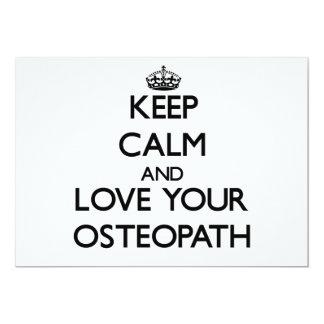 Guarde la calma y ame a su osteópata invitación personalizada