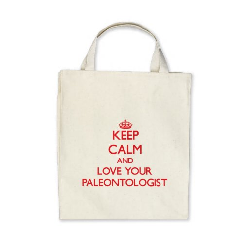 Guarde la calma y ame a su paleontólogo bolsas