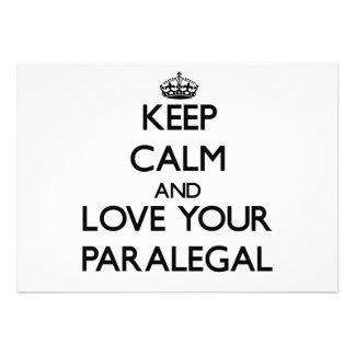 Guarde la calma y ame a su Paralegal