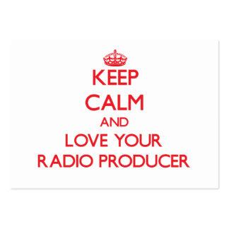 Guarde la calma y ame a su productor de radio