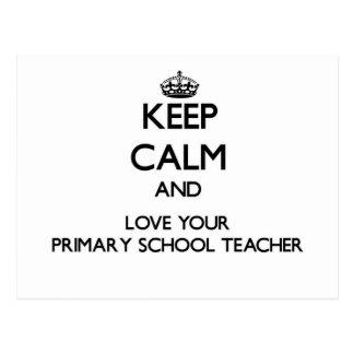 Guarde la calma y ame a su profesor de escuela postal