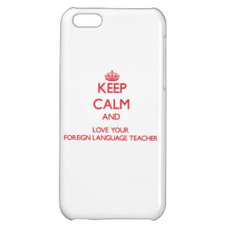 Guarde la calma y ame a su profesor del idioma ext