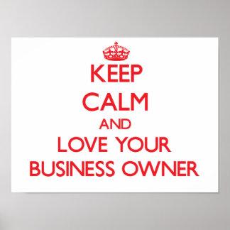 Guarde la calma y ame a su propietario de negocio impresiones