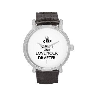 Guarde la calma y ame a su redactor relojes de mano