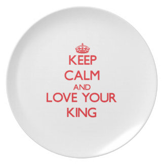 Guarde la calma y ame a su rey