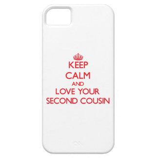 Guarde la calma y ame a su segundo primo iPhone 5 carcasa