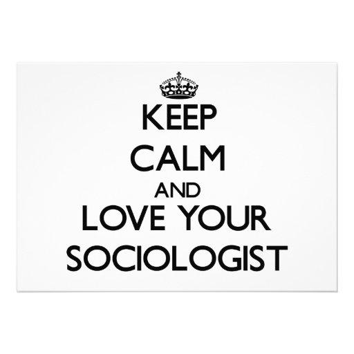 Guarde la calma y ame a su sociólogo comunicado personalizado