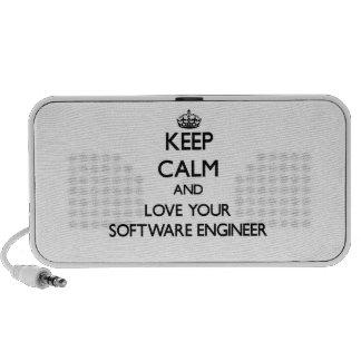 Guarde la calma y ame a su Software Engineer Mp3 Altavoz