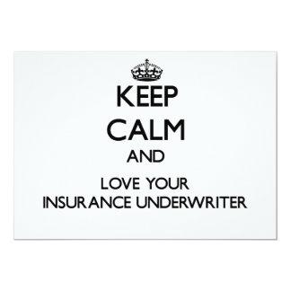 Guarde la calma y ame a su suscriptor de seguro invitaciones personalizada