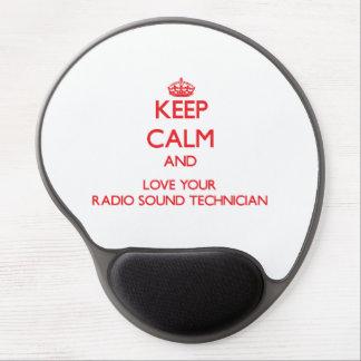 Guarde la calma y ame a su técnico sano de radio alfombrillas con gel