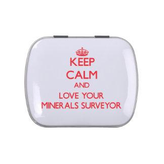 Guarde la calma y ame a su topógrafo de los minera