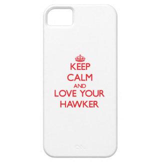 Guarde la calma y ame a su vendedor ambulante iPhone 5 Case-Mate cárcasas