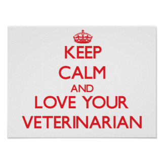Guarde la calma y ame a su veterinario