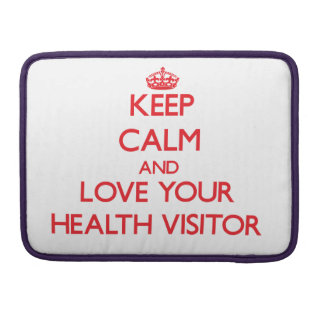 Guarde la calma y ame a su visitante de la salud fundas macbook pro