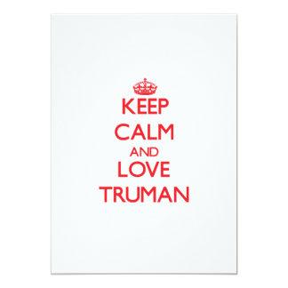 Guarde la calma y ame a Truman Anuncio Personalizado