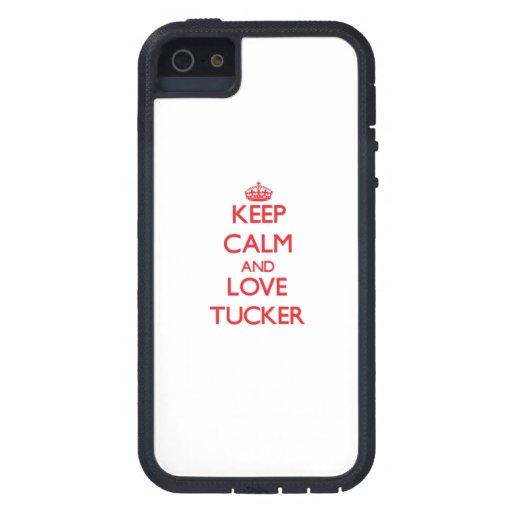 Guarde la calma y ame a Tucker iPhone 5 Carcasa