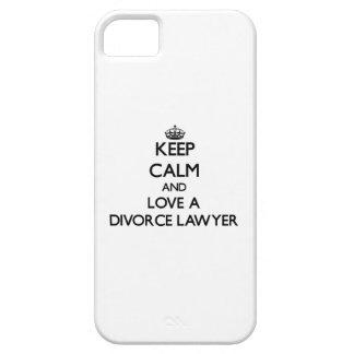 Guarde la calma y ame a un abogado de divorcio iPhone 5 Case-Mate cobertura