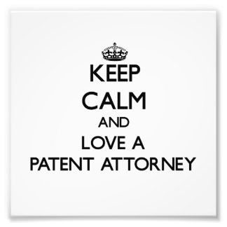 Guarde la calma y ame a un abogado de patentes fotografía