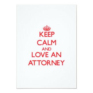 Guarde la calma y ame a un abogado invitacion personal