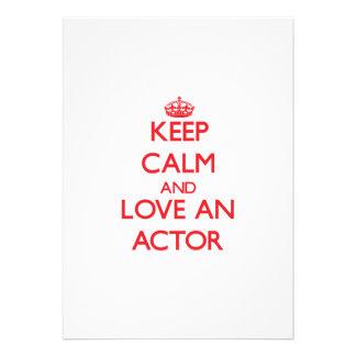 Guarde la calma y ame a un actor comunicado