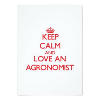 Guarde la calma y ame a un agrónomo comunicado personalizado