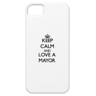 Guarde la calma y ame a un alcalde iPhone 5 coberturas