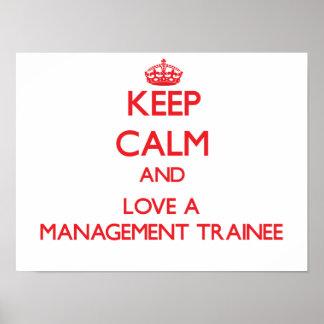 Guarde la calma y ame a un aprendiz de la gestión impresiones