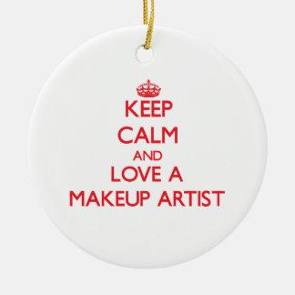 Guarde la calma y ame a un artista de maquillaje ornatos