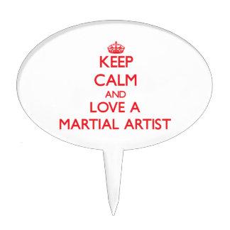 Guarde la calma y ame a un artista marcial palillos de tarta