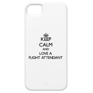 Guarde la calma y ame a un asistente de vuelo iPhone 5 carcasa