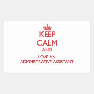 Guarde la calma y ame a un ayudante administrativo rectangular altavoz