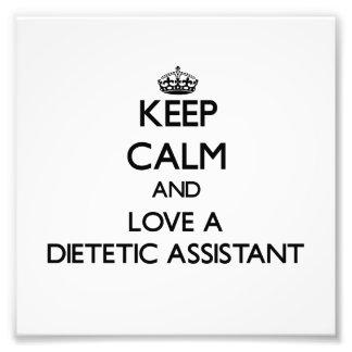 Guarde la calma y ame a un ayudante dietético fotografias