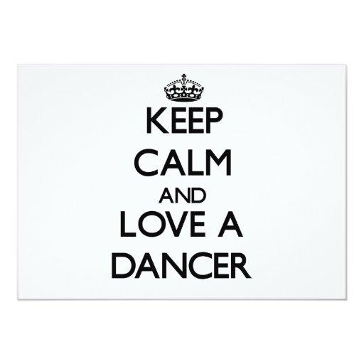 """Guarde la calma y ame a un bailarín invitación 5"""" x 7"""""""