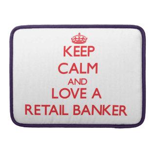 Guarde la calma y ame a un banquero al por menor funda macbook pro