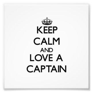 Guarde la calma y ame a un capitán fotografia