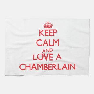 Guarde la calma y ame a un chambelán toallas