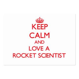 Guarde la calma y ame a un científico de Rocket Plantillas De Tarjetas De Visita