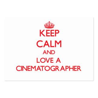 Guarde la calma y ame a un cinematógrafo tarjeta de visita