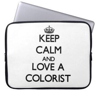 Guarde la calma y ame a un Colorist Funda Computadora